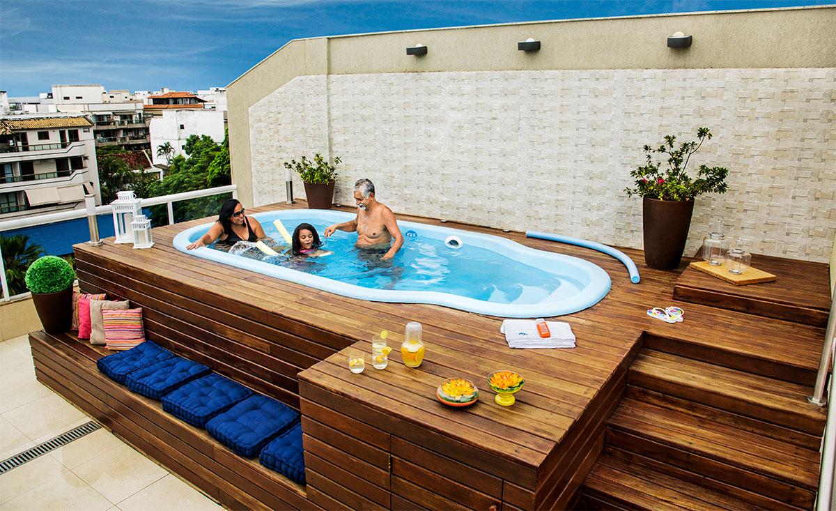Piscinas compactas en fibra de vidrio igui cali colombia for Cuanto cuesta hacer una piscina en colombia